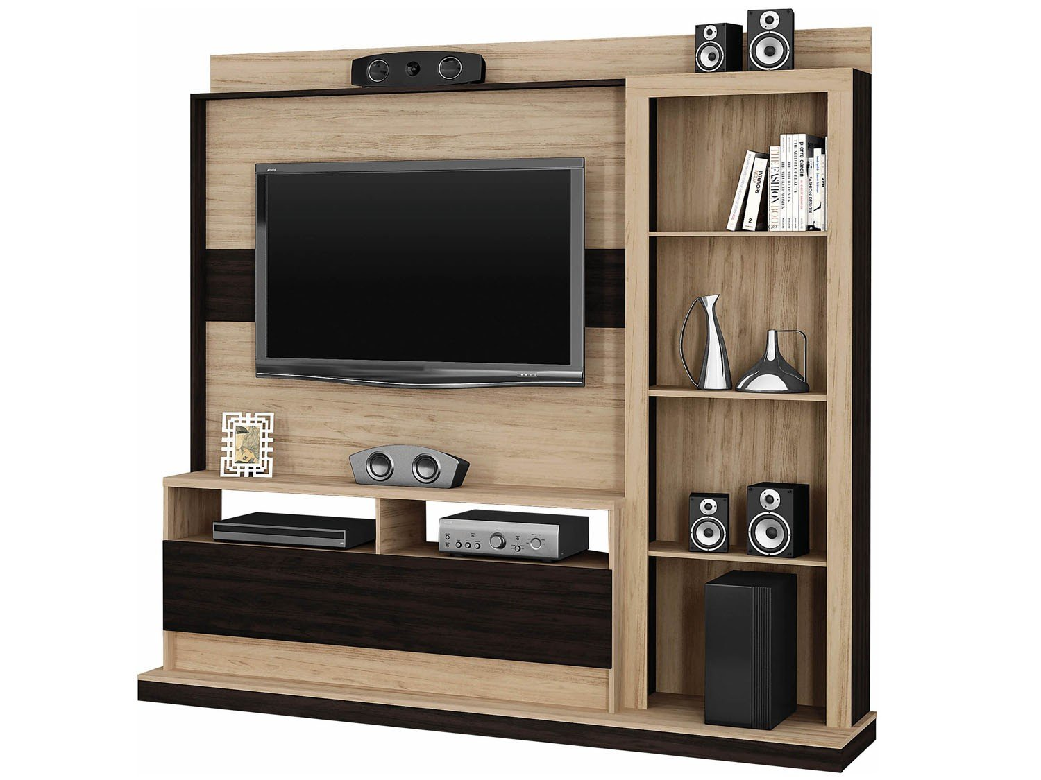 Estante para tv home theater montevid o rack bancada - Estantes para pared ...