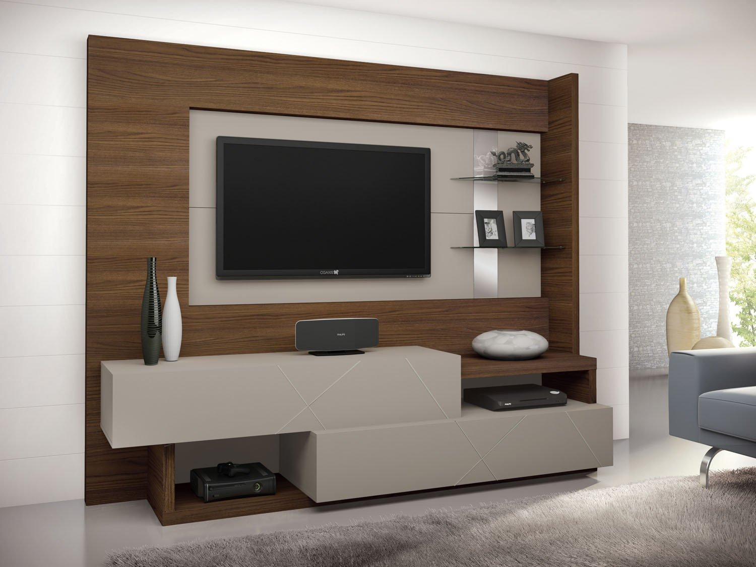 Estante home para tv presence 2 gavetas 2 prateleiras - Estantes de pared originales ...