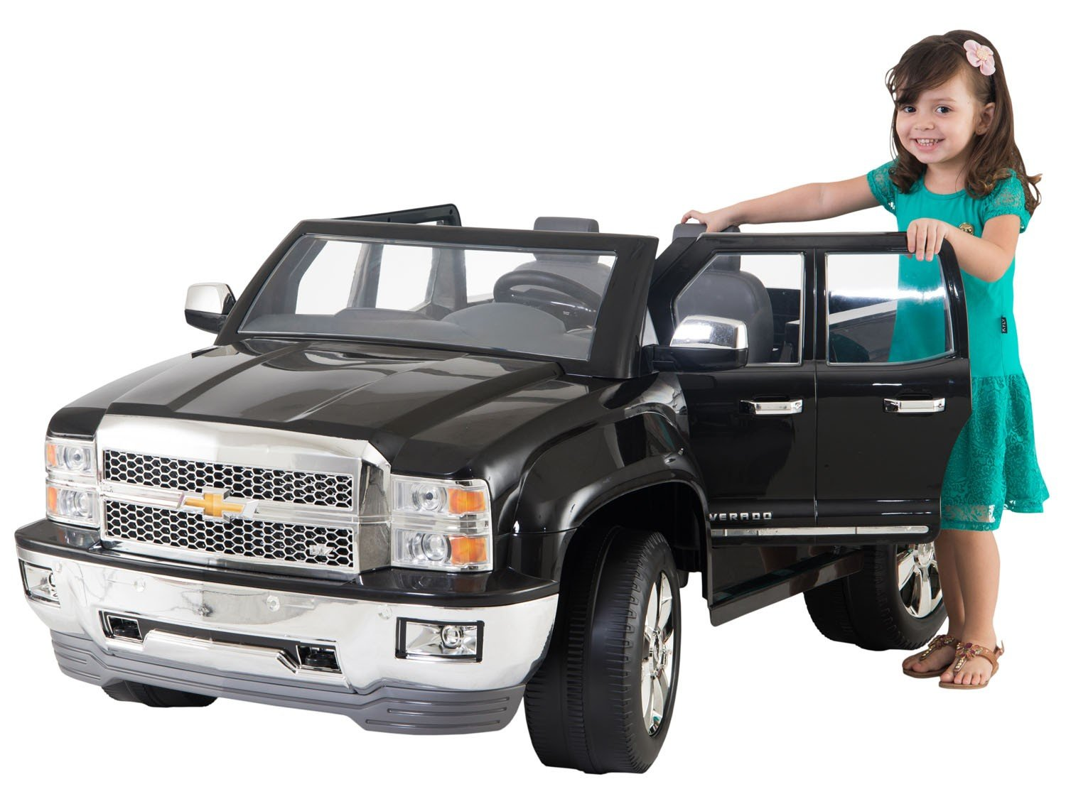 mini carro el trico infantil pickup chevy silverado 2. Black Bedroom Furniture Sets. Home Design Ideas