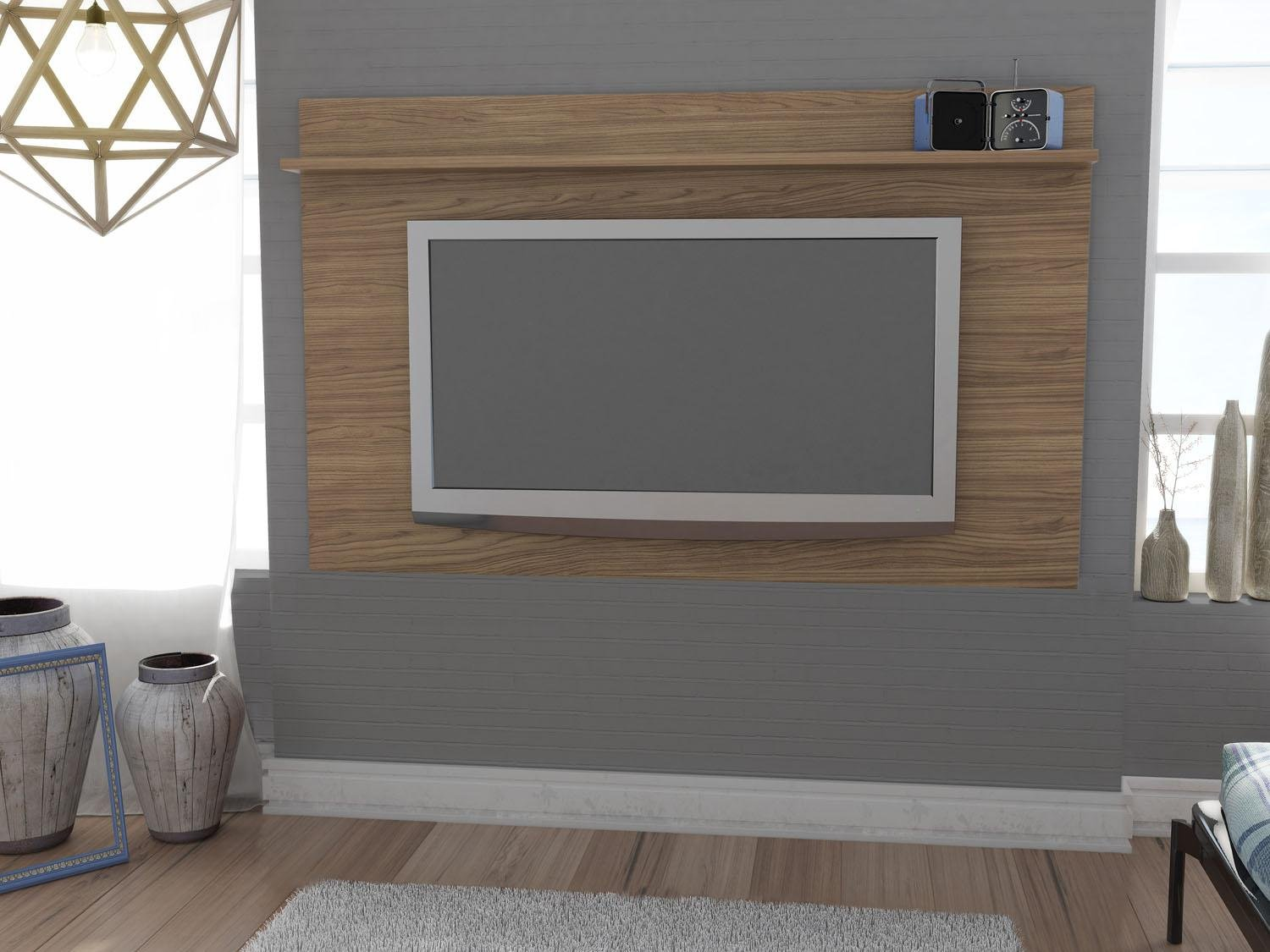 Painel Para Tv Bancada Suspensa Nadia Pictures to pin on Pinterest #465068 1500x1125