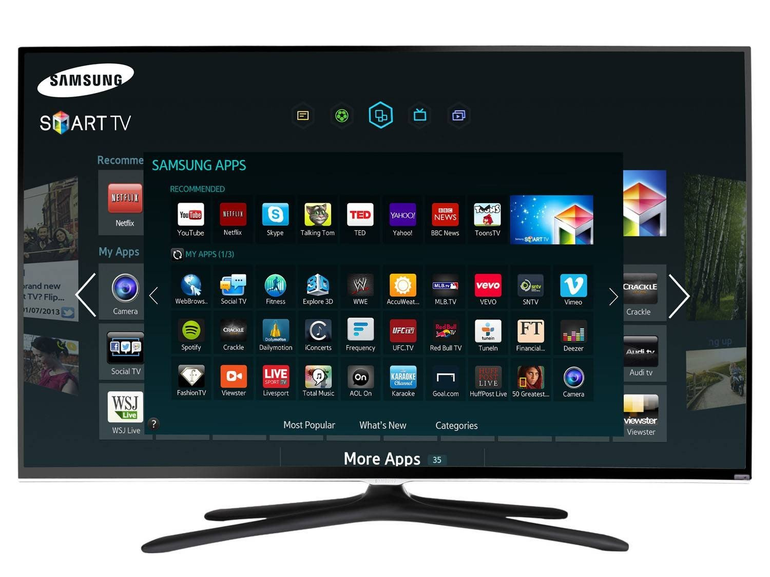 smart tv led 40 samsung un40h5550ag full hd conversor. Black Bedroom Furniture Sets. Home Design Ideas