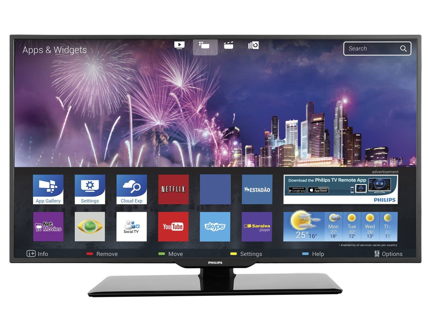smart tv slim led 40 philips 40pfg5109 full hd conversor integrado 3 hdmi 2 usb wi fi smart. Black Bedroom Furniture Sets. Home Design Ideas