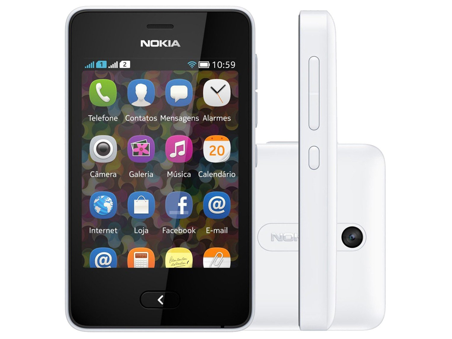 smartphone-nokia-asha-501-dual-chip-camera-3.2mp-tela-3-wi-fi-bluetooth-radio-fm-mp3-cartao-4gb