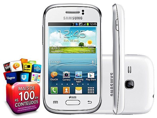 Smartphone Samsung Galaxy Young Duos TV Dual Chip - 3G Android 4.1