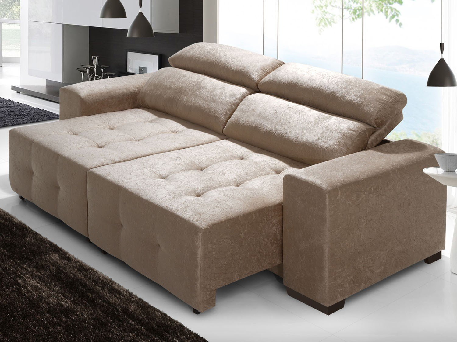 Sof retr til e reclin vel 2 lugares new veneza lima for Sofa 03 lugares retratil e reclinavel