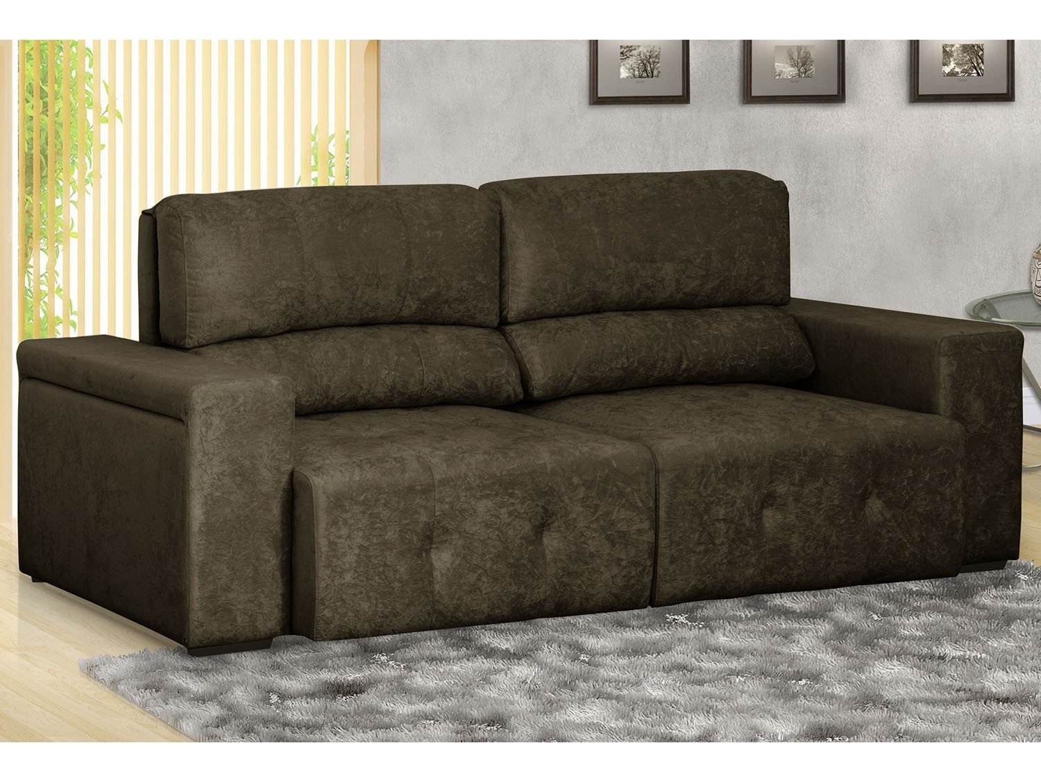 Sof retr til e reclin vel 3 lugares cancun gralha azul for Sofa 03 lugares retratil e reclinavel