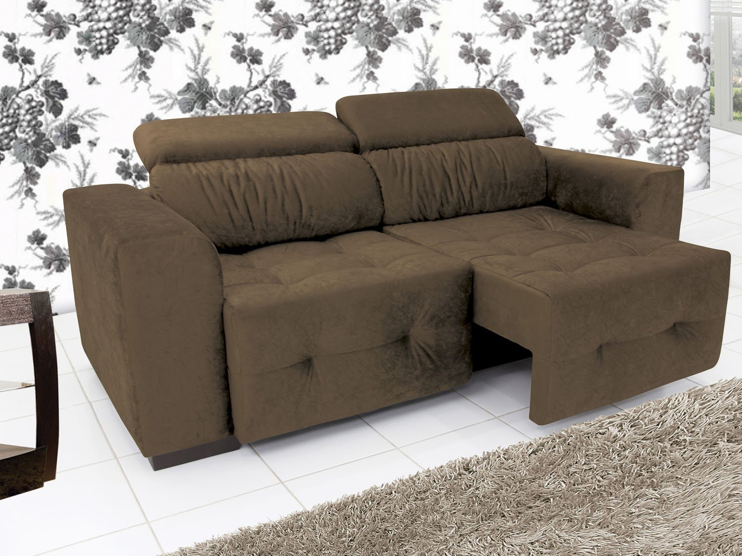 Sof retr til e reclin vel 3 lugares linoforte benito for Sofa 03 lugares retratil e reclinavel
