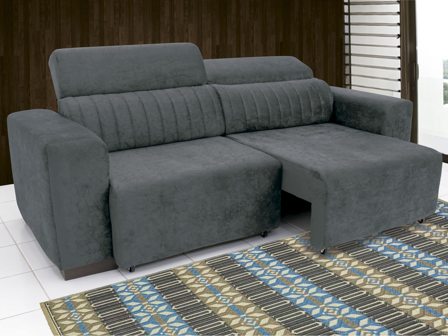 Sof retr til e reclin vel 4 lugares elite linoforte for Sofa 03 lugares retratil e reclinavel