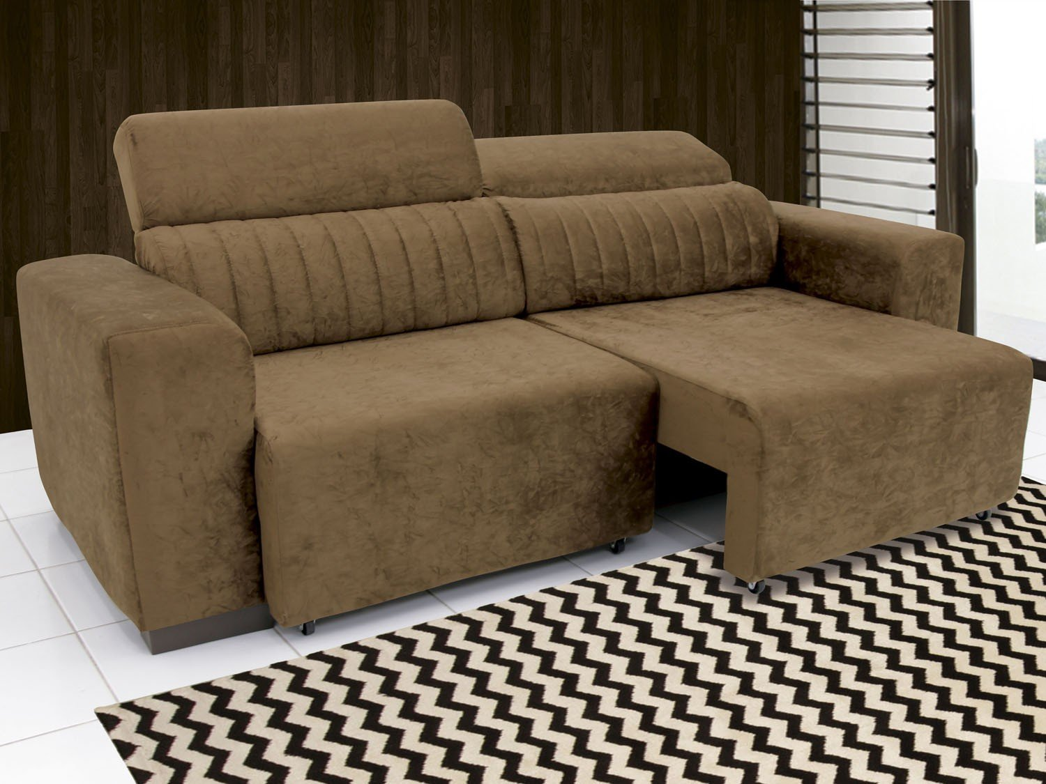 Sof retr til e reclin vel 4 lugares suede elite linoforte for Sofa 03 lugares retratil e reclinavel