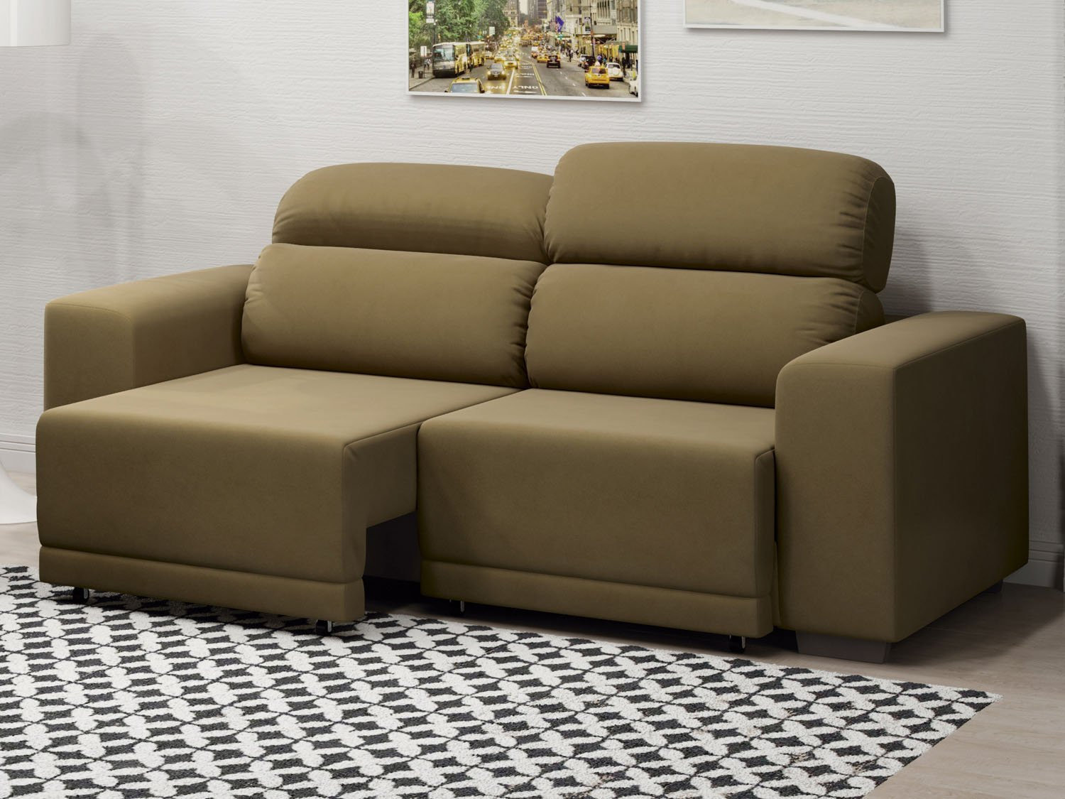 Sof retr til reclin vel 3 lugares ducatto linoforte for Sofa 03 lugares retratil e reclinavel
