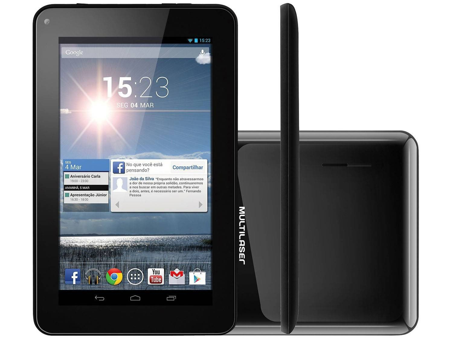 "Tablet Multilaser M7S 8GB Tela 7"" Wi-Fi - Android 4.2 Processador Dual"