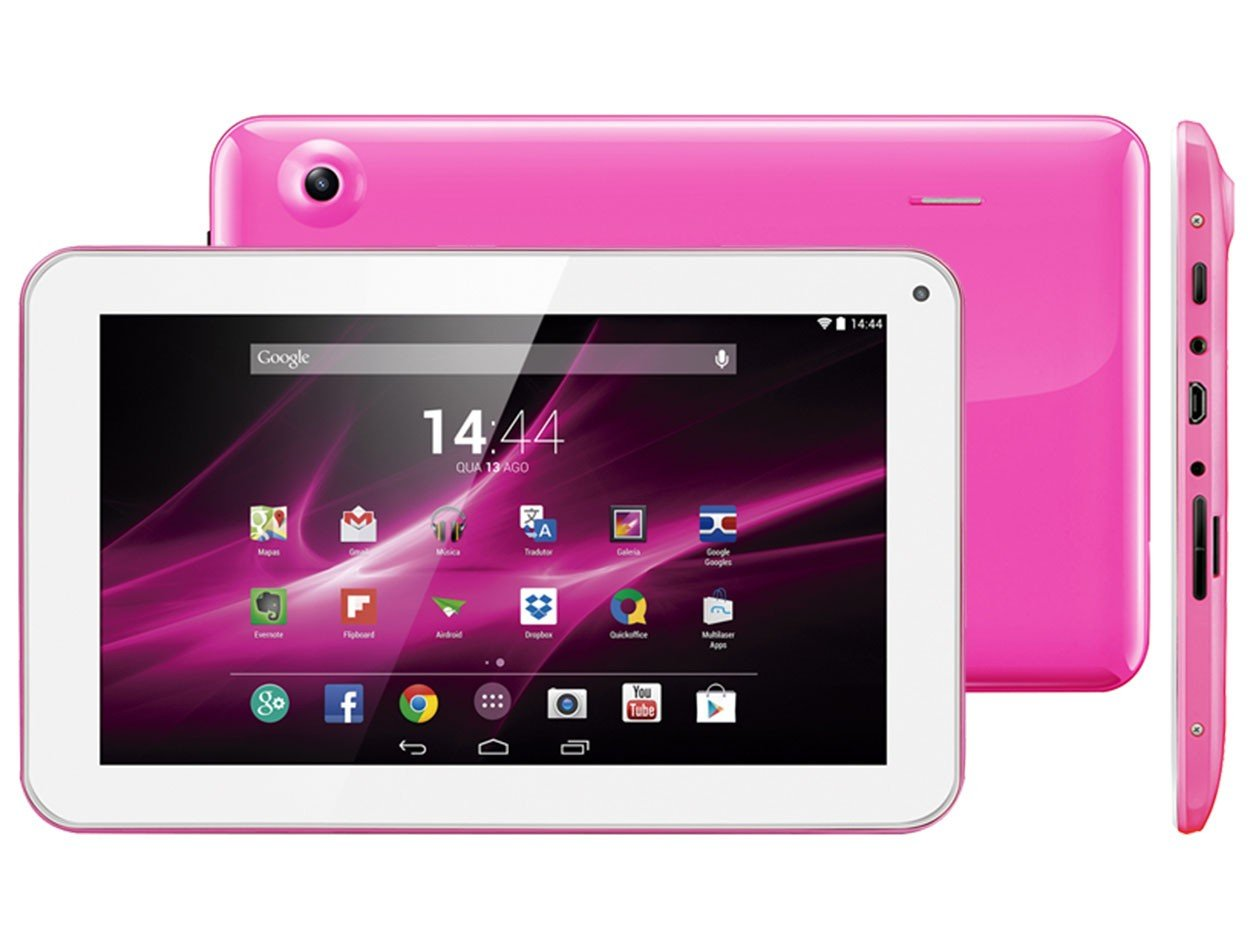 Tablet Multilaser M9 Nb174 Rosa Quad Core 8gb Wifi Tela 9 ...