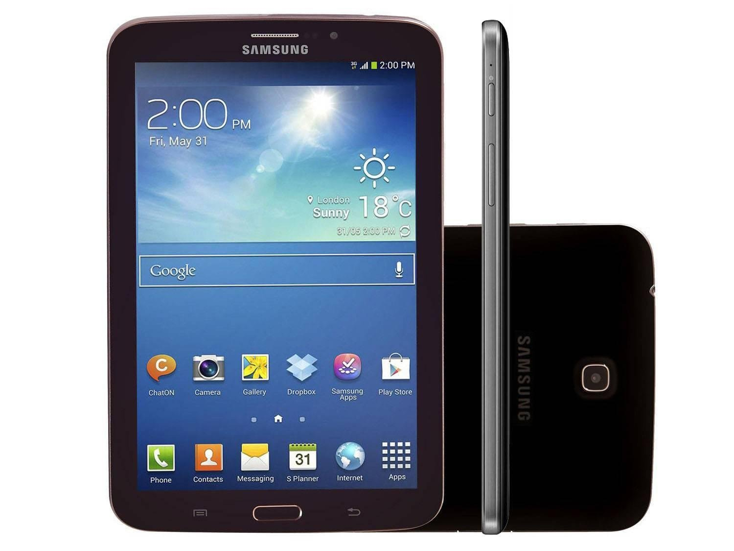 tablet samsung galaxy tab 3 8gb tela 7 3g wi fi android 4. Black Bedroom Furniture Sets. Home Design Ideas
