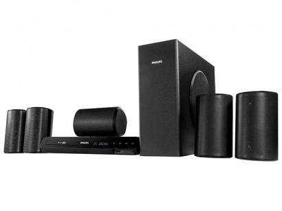 Home Theater Blu-Ray 3D Philips HTS-3564 - 5.1 Canais 770W RMS Entrada HDMI e USB Wi-Fi