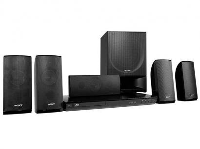 Home Theater Sony BDV-E290 c/ Blu-Ray 3D 850W RMS - 5.1 Canais, Conexo HDMI e USB, Resoluo Full HD