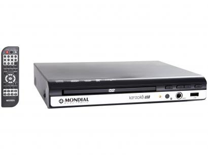 DVD Player Mondial D-15 com Karaokê Ripping - USB