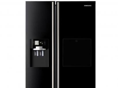 Geladeira/Refrigerador Samsung Frost Free - Side By Side 506L Home Bar Dispenser RS21HKLBG