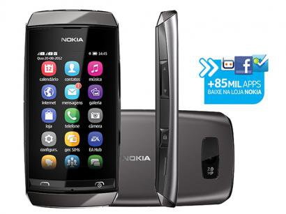 Celular Dual Chip Nokia Asha 305 Cmera 2MP - Bluetooth 2.1 MP3 Rdio Carto 2GB 40 Jogos Grtis