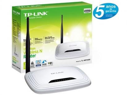 Roteador Wireless 150 Mbps Possui Boto QSS - TP-Link TL-WR740N