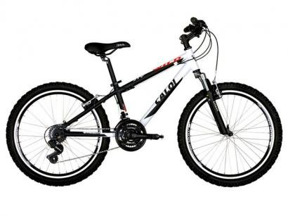 Bicicleta Caloi Wild Aro 24 21 Marchas Quadro Alum - Susp Dianteira Cmbio Shimano Trocador Rapid Fire