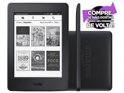 "Kindle Paperwhite Amazon Tela 6"" 4GB Wi-Fi - Luz Embutida 3G Preto"