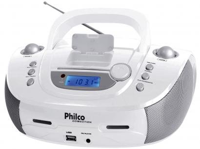 Som Portátil Philco FM 7W Display Digital - Dock Connection PB126BR Entrada USB...