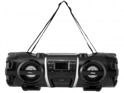 Som Portátil Philco FM 200W CD Player - Display Digital PB500BT Bluetooth...