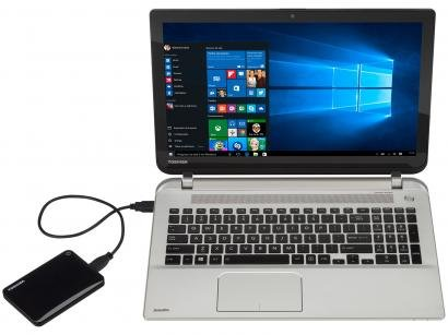 HD Externo 1TB Toshiba Canvio Connect II - HDTC810XK3A1 USB 3.0