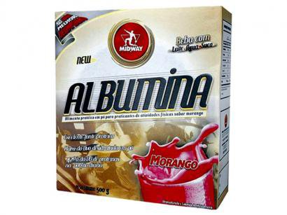 Albumina Morango 500g - Midway