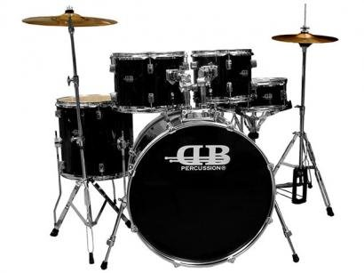 Bateria Acstica 5 Peas c/ Pratos, Banco e Pedal - DB Percussion DB 54