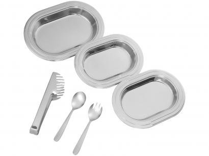Conjunto de Baixelas 6 Peas Inox - Tramontina Ciclo