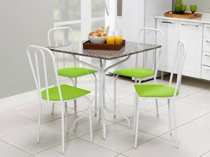 Conjunto de Mesa Jade e 4 Cadeiras Lyon - Metalmix