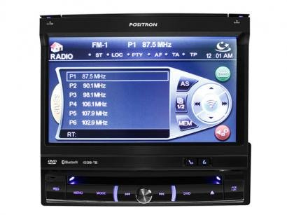 "DVD Automotivo Pósitron SP6551DTV Tela Retrátil 7"" - TV Digital + Bluetooth + Entrada USB"