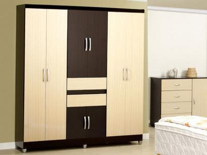 Guarda-Roupa Casal Barcelona 8 Portas 2 Gavetas - Araplac