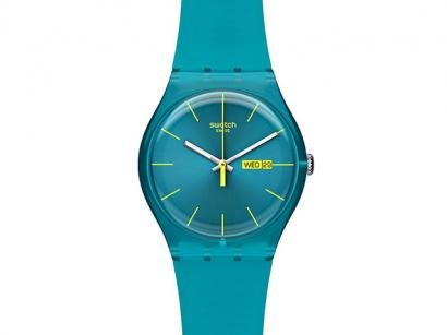 Relgio de Pulso Unissex Fashion Analgico - Swatch Original Plstico NEW GENT SUOL700