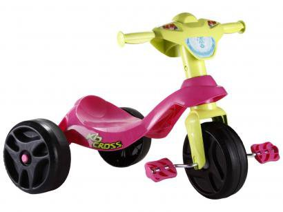 Triciclo Kid Cross Rosa - Bandeirante