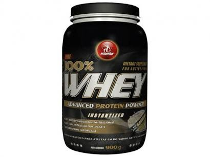 Whey Advanced Protein Powder 100% Morango 900g - Midway
