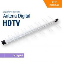 Antena Capte Banda Total Custom Log 14 / 28e 18dBi Branca 9312256