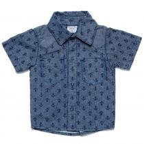 Camisa Masculina Jeans Âncora - Clube do Doce - M Clube do Doce 9044756