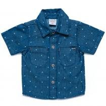 Camisa Masculina Jeans Dylan - Clube do Doce - G Clube do Doce 9074725