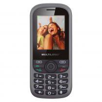 Celular Up 2 Chips Com Câmera Preto Bluetooth Mp3 Wap - Multilaser Multilaser 8259552