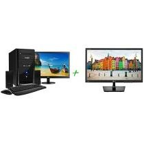 Computador PC Mix L3300 Intel Dual Core 4GB 500GB LED 18,5 ´ Linux + Monitor LG LED 19,5 ´ 2192645