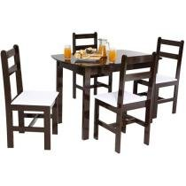 Conjunto Mesa e 4 Cadeiras Mille
