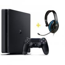 Console Playstation 4 Slim 500GB + Headset Ear Force P4C com Microfone - Turtle Beach 7838142