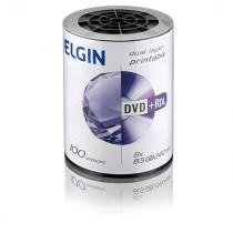 Dvd Gravavel Dual Layer Dvd+R 8,5Gb / 240Min / 8X Printabl Tubo - 100 Elgin 7335552