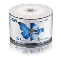 Dvd Gravavel Printable Dvd - R 4.7Gb / 120Min / 8X Tubo - 50 Elgin 7366060