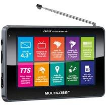 "GPS Automotivo Multilaser Tracker III Tela 4.3"" TV Digital 2500 Cidades Navegáveis"