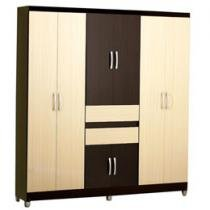 Guarda-Roupa Casal Barcelona 8 Portas 2 Gavetas