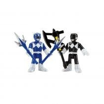 Imaginext Power Rangers - Ranger Azul e Ranger Preto - Fisher Price Fisher Price 8179914