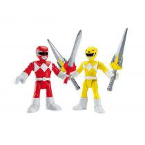 Imaginext Power Rangers - Ranger Vermelho e Ranger Amarelo - Fisher Price Fisher Price 7869160